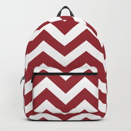 Japanese carmine - red color - Zigzag Chevron Pattern Backpack