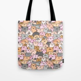 Pigs, Piglets & A Swine! Tote Bag