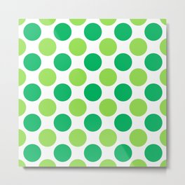 Green polka dots Metal Print