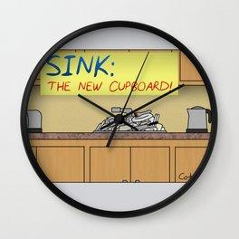 Sink: The New Cupboard Wall Clock