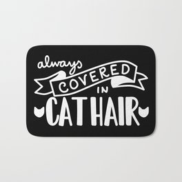 Covered in Cat Hair (Inverted) Bath Mat