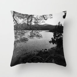 derwentwater through the trees from friars crag Throw Pillow