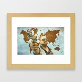 A world of pain Framed Art Print