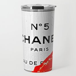 No 5 Red Splash Travel Mug