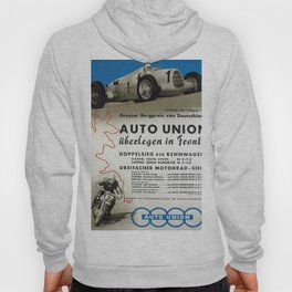 Vintage German Auto Union poster Hoody