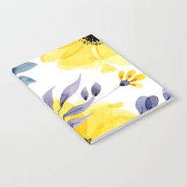 FLOWERS WATERCOLOR 10 Notebook