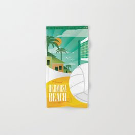 Hermosa Beach California Hand & Bath Towel