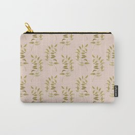 Graphic Golden Metallic Leaves Carry-All Pouch