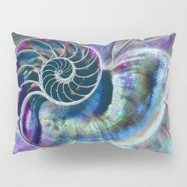 Iridescent Shell Snail Fossil Pillow Sham