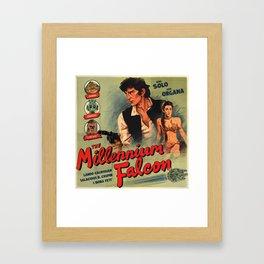 The Millennium Falcon Framed Art Print