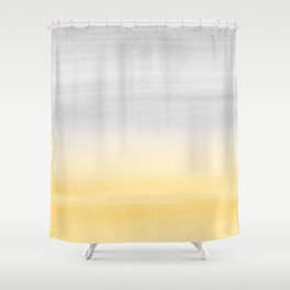 Touching Yellow Gray Watercolor Abstract #1 #painting #decor #art #society6 Shower Curtain