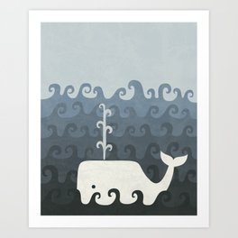 There She Blows Art Print