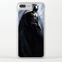 Bat Knight Clear iPhone Case
