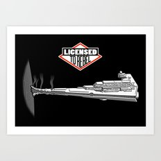 Licensed to Rebel Art Print