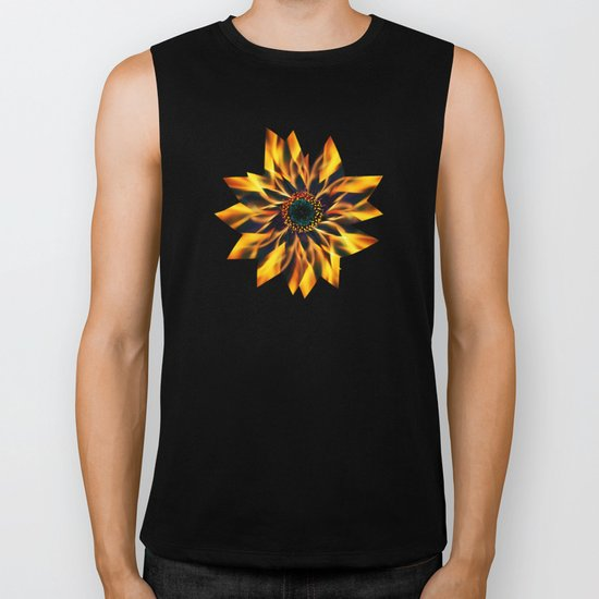 Flaming Love Flower Biker Tank