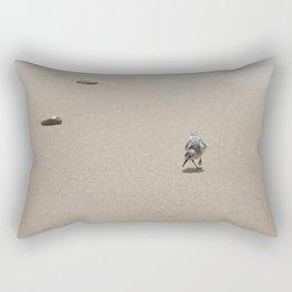 Sandpiper bird on wet sand Rectangular Pillow
