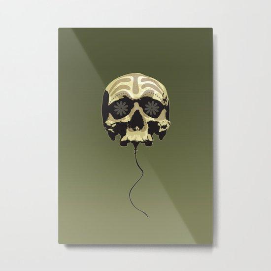Balloon skull Metal Print