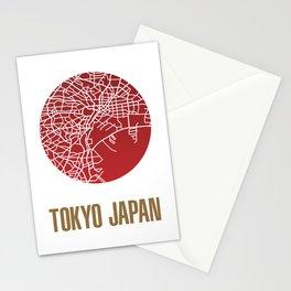 Tokyo City Map Stationery Cards