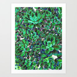 Floral tribute [green] Art Print