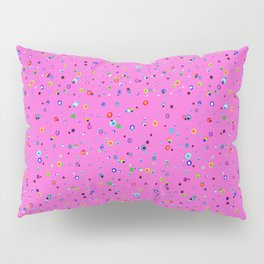 Hand-drawn Dots on Hot Pink, small print Pillow Sham