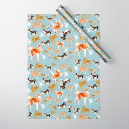 Japanese Dog Breeds Wrapping Paper