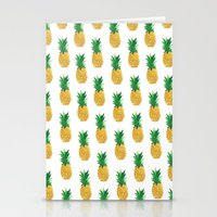 pineapples Stationery Cards featuring Pineapples by millymay2