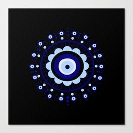 Evil Eye Flower Burst Canvas Print