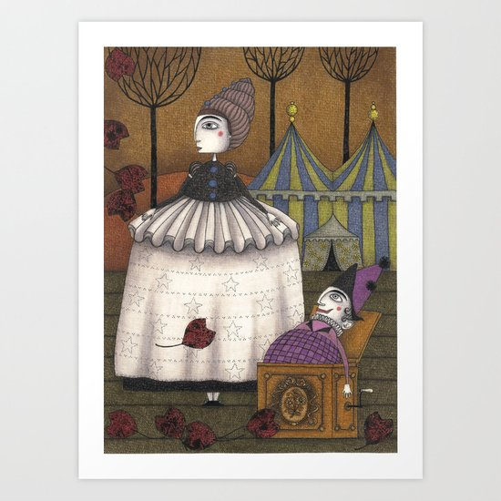 A Day in Autumn Art Print