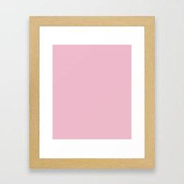 Cameo Pink - solid color Framed Art Print