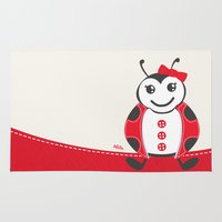 ladybug Area & Throw Rugs featuring LadyBug by Alìta Design
