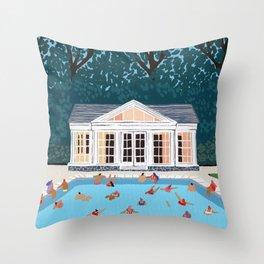 Little poolhouse Throw Pillow