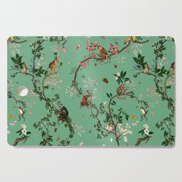 Monkey World Green Cutting Board