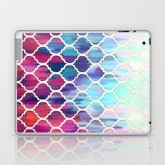 Moroccan Meltdown - pink, purple & aqua painted tiles Laptop & iPad Skin
