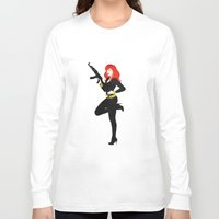 black widow Long Sleeve T-shirts featuring Black Widow by keygrin
