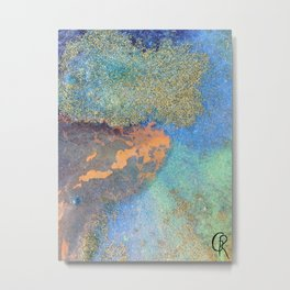 Eternal Well Abstract Painting Close Up Photo Metal Print