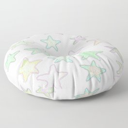 Fun Pastel Stars! Floor Pillow