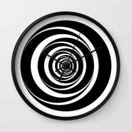 Black  White Circles Sixties Optical Illusion Wall Clock