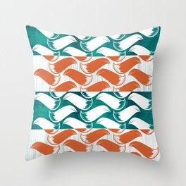 Foxhatched Throw Pillow