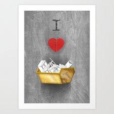 i heart skips Art Print