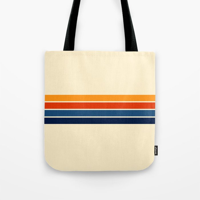 Classic Retro Stripes Tote Bag