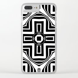 Black White   Leyana #2 Clear iPhone Case