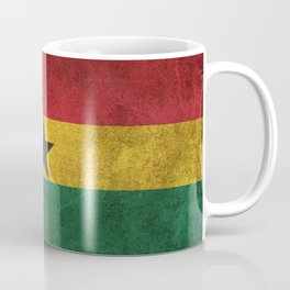 Old and Worn Distressed Vintage Flag of Ghana Coffee Mug