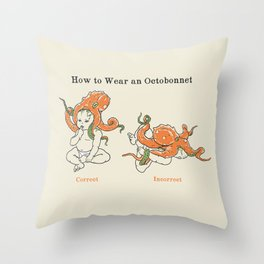 Octobonnet Throw Pillow
