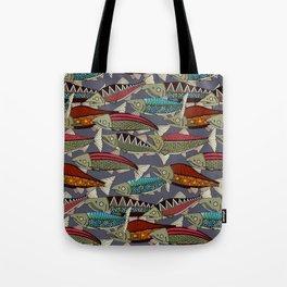 Alaskan salmon dusk Tote Bag