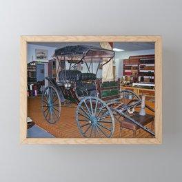 Antique Carriage in museum Framed Mini Art Print