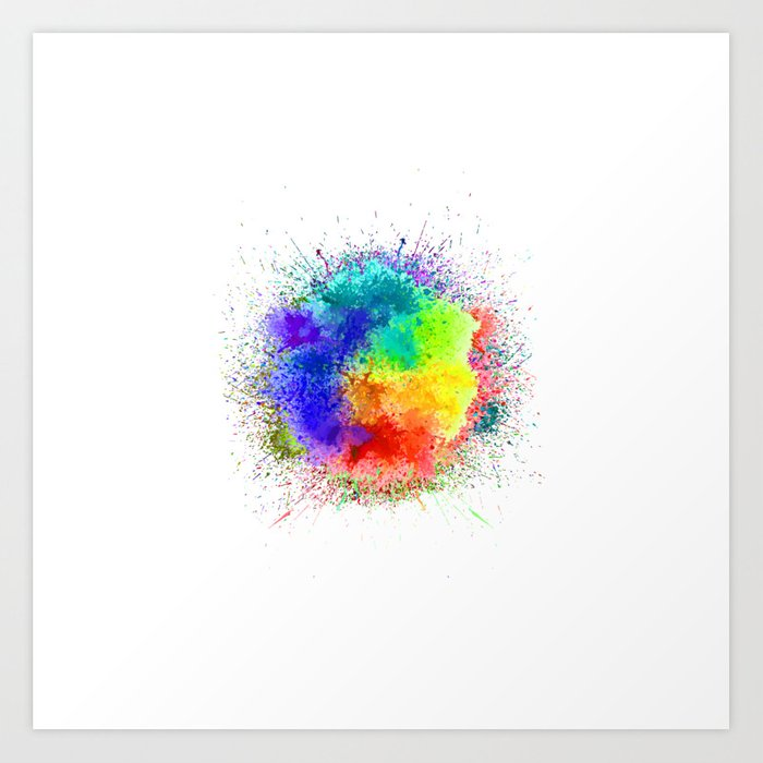 Festival of Colors Art Print