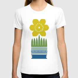 Nordic Yellow Flower T-shirt