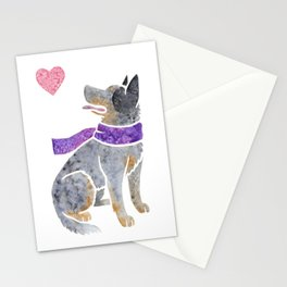 Watercolour Australian Cattle Dog Stationery Cards
