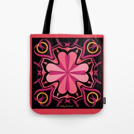 Lyrical Love Mandala - Pink Black Tote Bag