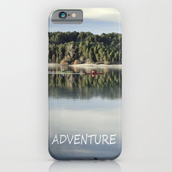 Adventure. Canoeing on the lake.  iPhone & iPod Case